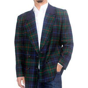 """VINTAGE """"Le Suit"""" Wool Blend Plaid Blazer Jacket"""